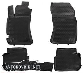 Коврики в салон для Subaru Forester III 2008-2013 черные