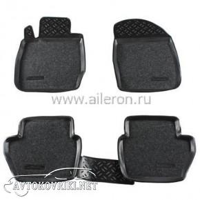 Полиуретановые коврики в салон Ford Fiesta 2008- (Soft) Aileron